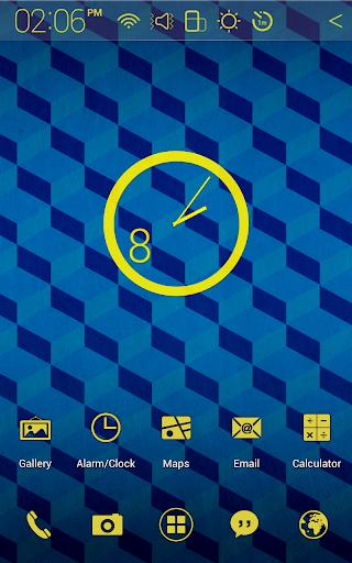 Cube Pattern Atom theme