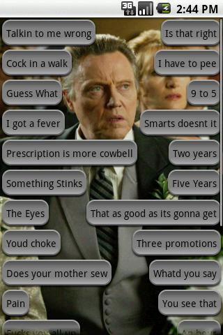 Christopher Walken Soundboard - screenshot