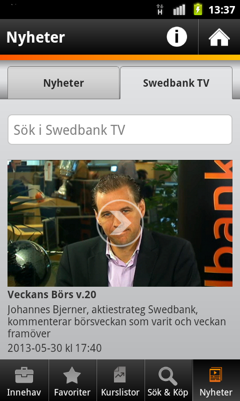 Swedbank - screenshot