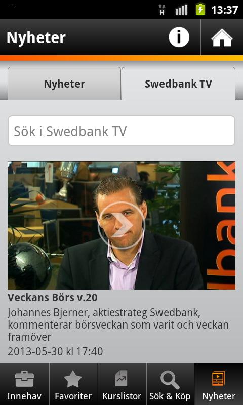 Swedbank - screenshot