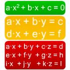 Ecuaciones (2º grado, xy, xyz) icon