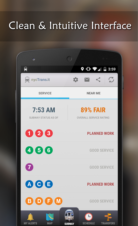 MyTrans.it NYC - Subway (MTA) - screenshot