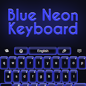 Blue Neon Keyboard
