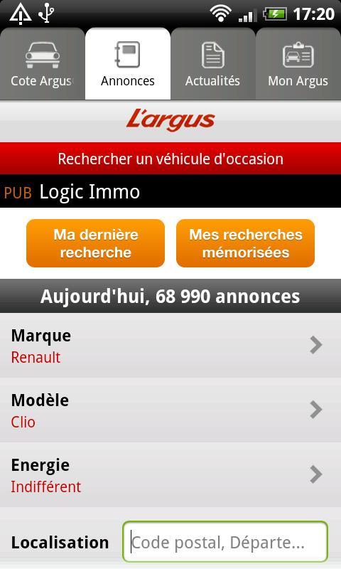 L'argus- screenshot