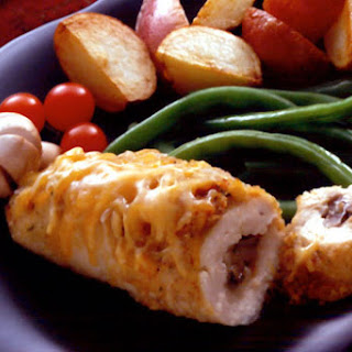 Cheese and Mushroom Stuffed Chicken Breasts.
