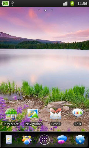 Purple Landscape Theme
