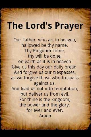 the lords prayer iphone - photo #15