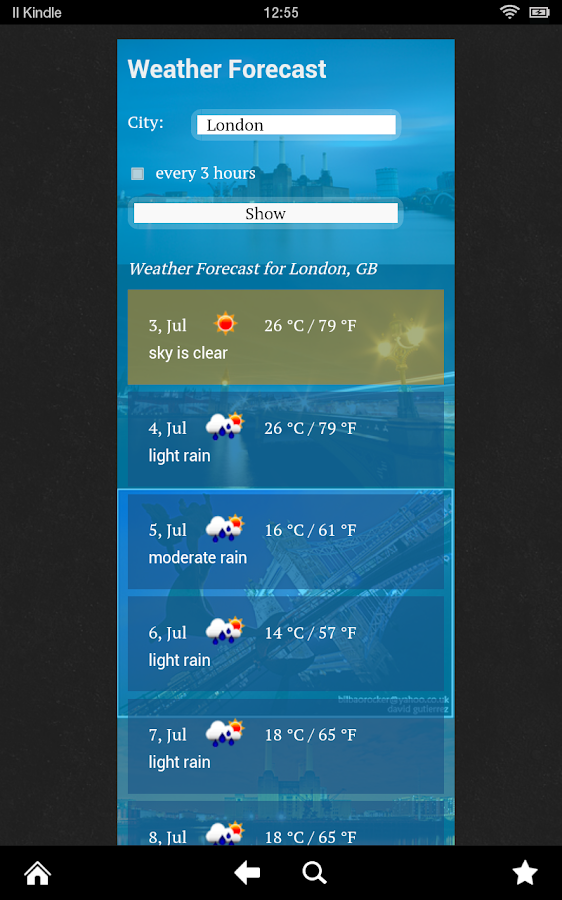 Weather Forecast World - screenshot