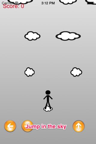 Brave Stickman Sport Sky Climb