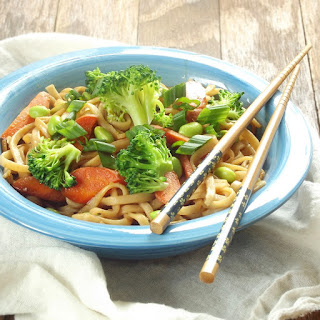Udon Noodle Vegetable Teriyaki Stir-Fry.