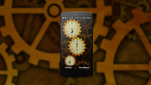 Gear World Analog Clock LWP