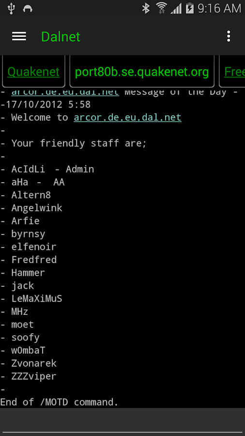 IRC Radio  ( TTS )- screenshot