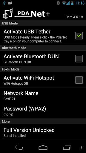 PdaNet+ v4.19 build 4199 [Unlocked]