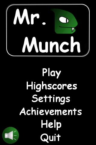 Mr. Munch (Snake game) - screenshot