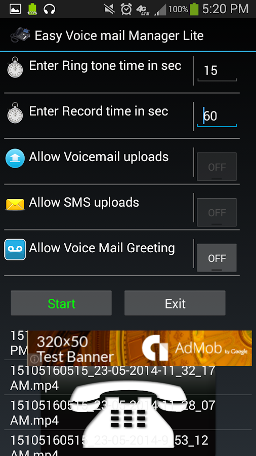 how to set up voicemail on droid