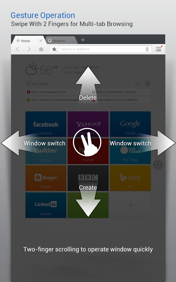 Baidu Browser for Tablet - screenshot
