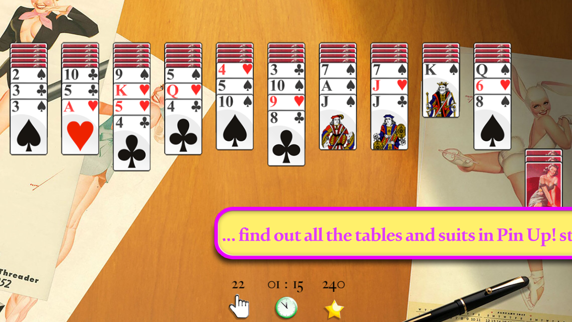 Pin Up Spider Solitaire- screenshot
