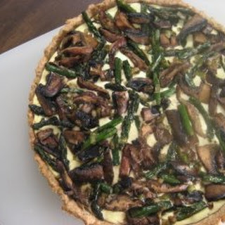 Stretching-Toward-Spring Vegetable Tart with Whole Wheat-Rosemary Shell