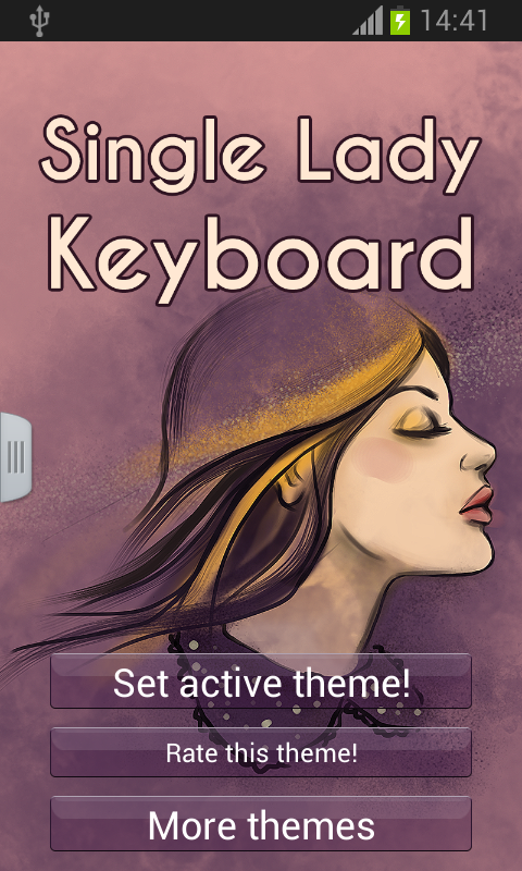 Single Lady Keyboard - screenshot