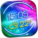 Neon Clock Weather Widget icon