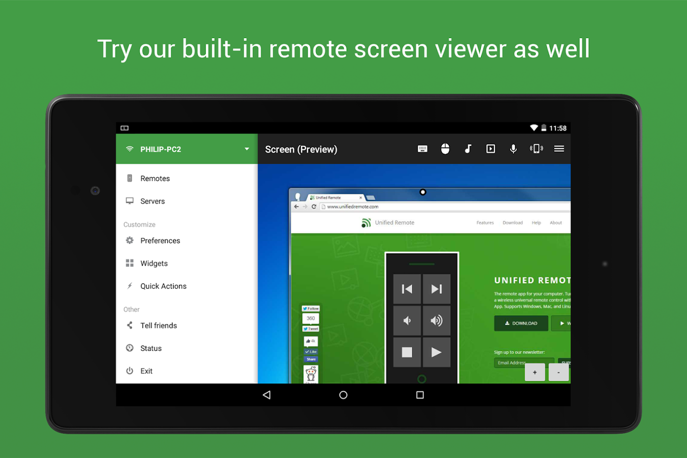 Unified Remote- screenshot