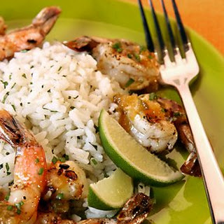 Lime-Cilantro Rice.
