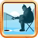 Winter fishing 3D premium icon