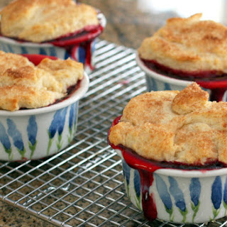 Easy Individual Cherry Cobblers