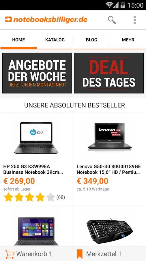 notebooksbilliger.de App - screenshot
