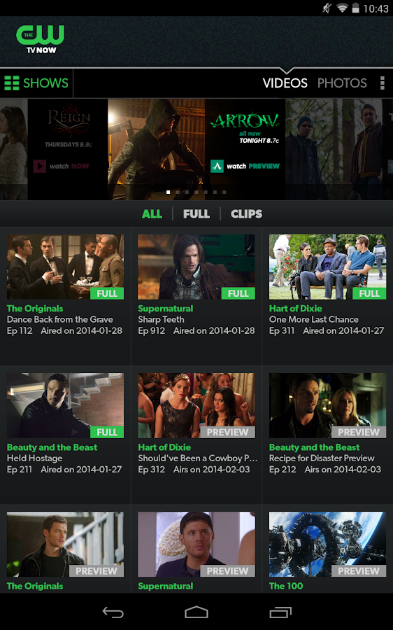 The CW Network - screenshot