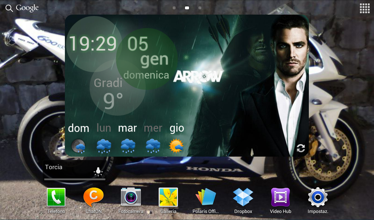Arrow Weather Clock UCCW Skin - screenshot