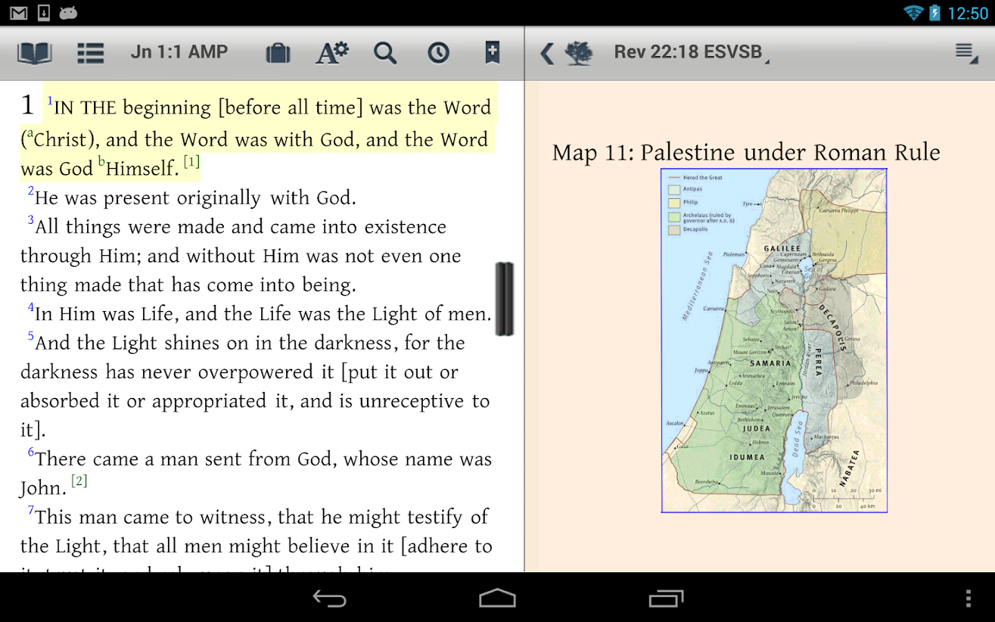 Amplified: The Bible Study App - screenshot