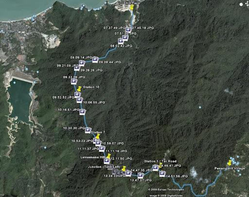 Penang Longest Trail Mapping From Chin Farm Via Laksamana