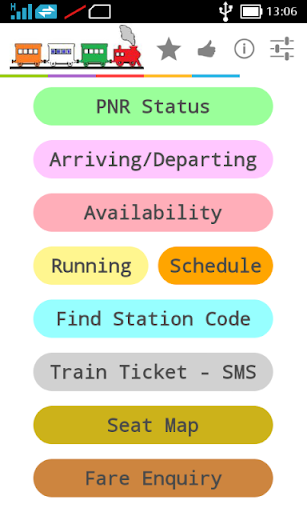 IRCTC ENQUIRY AND SMS BOOKING