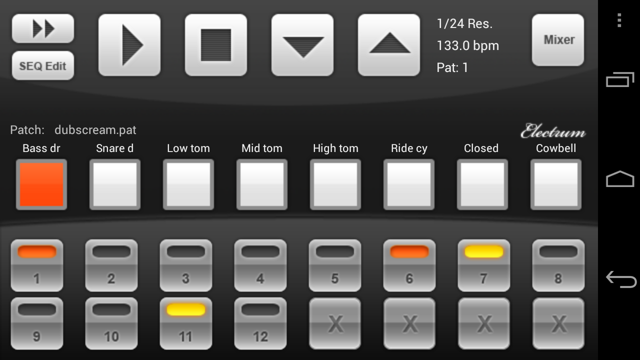 Electrum Drum Machine DEMO - screenshot