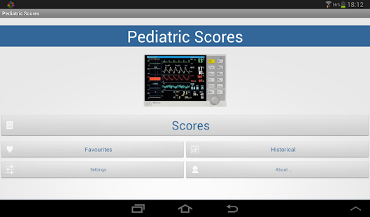 Pediatric Scores screenshot for Android