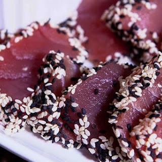 Sashimi Sesame Tuna with Asian Dipping Sauce.