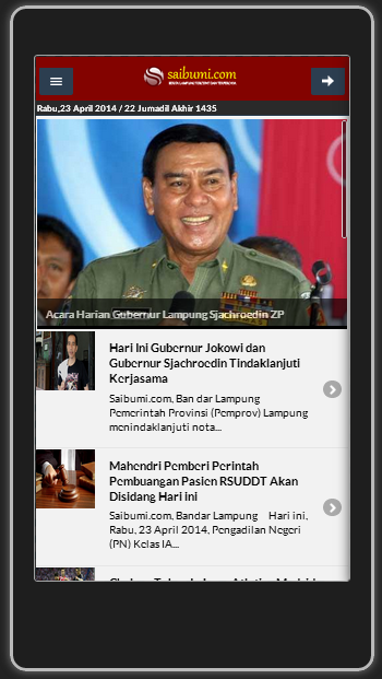 Saibumi Mobile App- screenshot