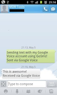 GV SMS Integration Free - screenshot thumbnail