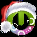 Santa on the way free theme icon