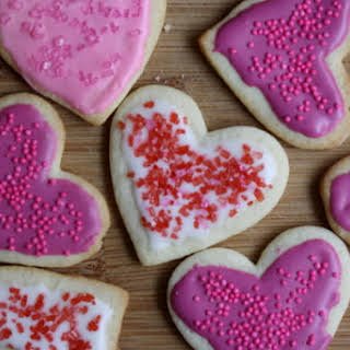 Heart- and Lip-Shaped Sugar Cookies.