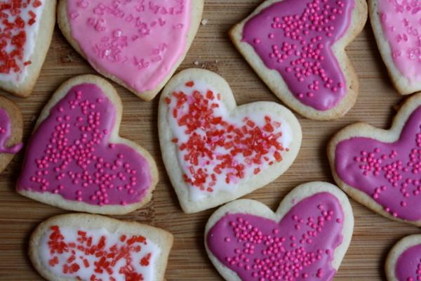 Heart- and Lip-Shaped Sugar Cookies Recipe