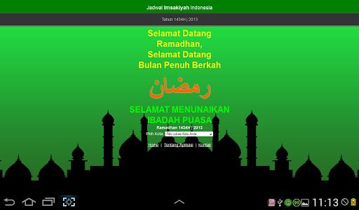 Jadwal Imsakiyah 1434H 2013M