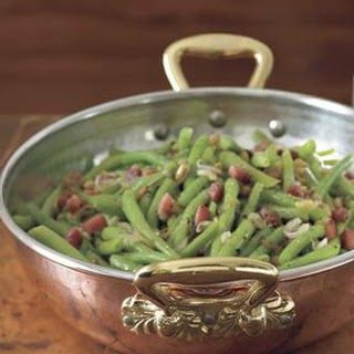Green Beans with Pancetta and Pine Nuts.