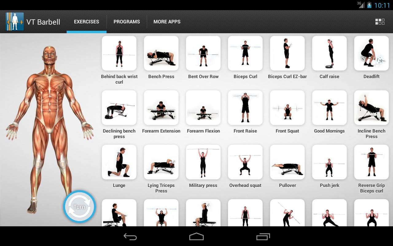 Virtual Trainer Barbell - screenshot