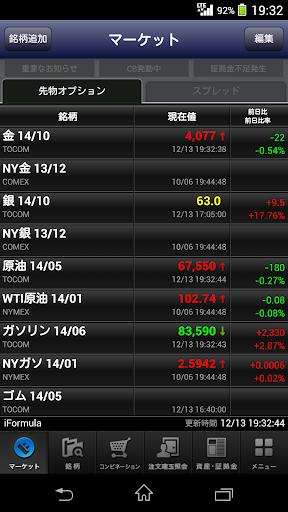 iFormula - 楽天証券の商品先物取引アプリ