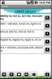 GMAT/GRE/SAT Idioms Audio