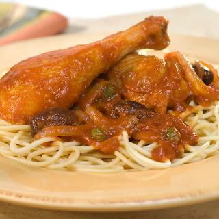 Chicken Puttanesca-style.
