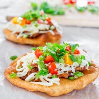 Steak Fry Bread Tacos