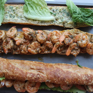 New Orleans-Style Barbecue Shrimp Po' Boy